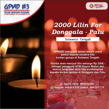 2000 Lilin For Donggala Bersama Guyon Waton Band