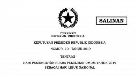 Libur Nasional 17 april 2019